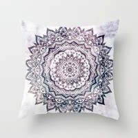 JEWEL MANDALA Throw Pillow by Nika