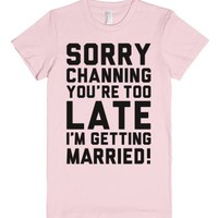 Sorry Channing-Female Light Pink T-Shirt