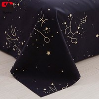 Sookie Constellation Pattern Bed Flat Sheet Fashion Geometric Mattress Cover for adults kids Soft Bedspread bedding covers