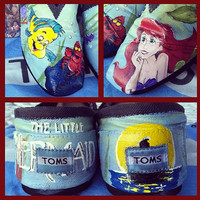 Custom Toms paint only by ThoseInFavor on Etsy