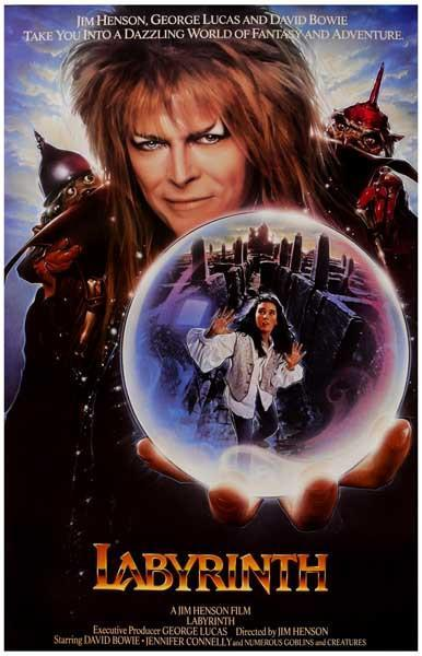 Image of Labyrinth Goblin King Movie Poster 11x17