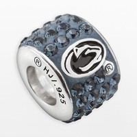 LogoArt Penn State Nittany Lions Sterling Silver Crystal Logo Bead - Made with Swarovski Elements (Blue)