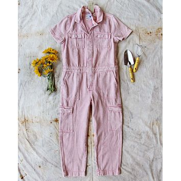 Rosie Coverall Utility Jumpsuit in Pink