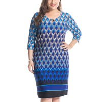 Women's Plus Size Print Dress