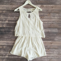 Selena Embroidered Layered Romper