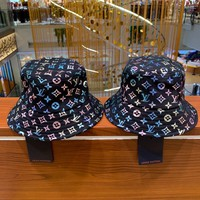 """LOUIS VUITTON"" Unisex Casual Fashion Gradient  Letter  print Fisherman's Cap Hat"