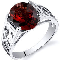 Garnet Envy Ring, Sterling Silver