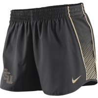 Nike Women's Florida State Seminoles Charcoal Stealth Pacer Performance Shorts