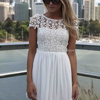 PRE ORDER - SPLENDED ANGEL DRESS (Expected Delivery 11th April, 2014) , DRESSES, TOPS, BOTTOMS, JACKETS & JUMPERS, ACCESSORIES, 50% OFF SALE, PRE ORDER, NEW ARRIVALS, PLAYSUIT, COLOUR, GIFT VOUCHER,,White,LACE,SHORT SLEEVE,MINI Australia, Queensland, Brisb