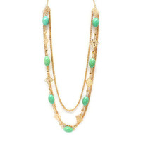 Pree Brulee - Mint Cappuccino Necklace