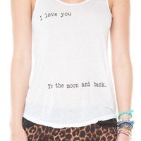 Brandy ♥ Melville    I Love You To The Moon And Back