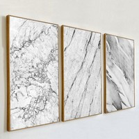 Abstract Grey Marble Veins Canvas Paintings Nordic Posters And Prints Pop Wall Art Pictures For Living Room Home Decor NO Frame