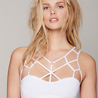 White Strappy Bra Top