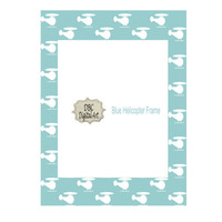 Blue Helicopter Digital Frame, Boy frames, 8x10, PNG, Scrapbooking Invitations, Greeting Cards, and more