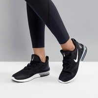 Nike Running Air Max Fury Trainers In Black And White at asos.com