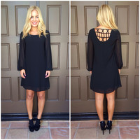 Good Catch Shift Dress- Black