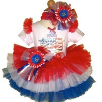 4th of July Flag Tutu Set