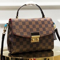 LV New fashion tartan leather shoulder bag crossbody bag handbag