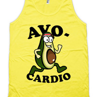 Funny Running Tank Avo-Cardio Running Clothing American Apparel Tank For Runners Exercise Clothes Fitness Gifts Gym Gear Mens Tanks WT-176
