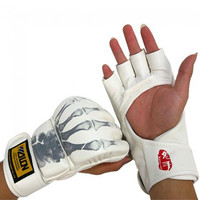 One Pair of Wulong Ghost Hand Boxing Gloves White - Default