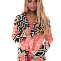 Peace and Love Tribal Cardigan