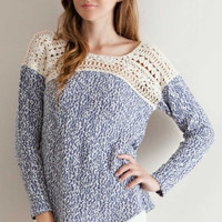 Simply Serene Blue Knit Top