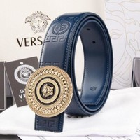 VERSACE Woman Fashion Smooth Buckle Belt Leather Belt H-A-GFPDPF