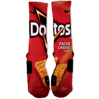 Nacho Cheese Doritos Custom Nike Elite Socks