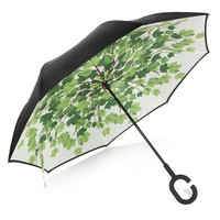 Rainlax Inverted Double Layer Windproof UV Protection Reverse folding Umbrellas
