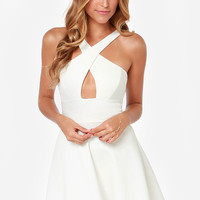 Criss-Cross Front Mini Dress