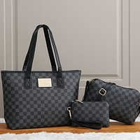 Louis Vuitton LV Women Fashion Leather Handbag Satchel Set Three Piece