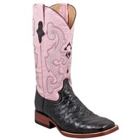 Ferrini Ladies Anteater Print-Black/Pink in Western Arena Boots