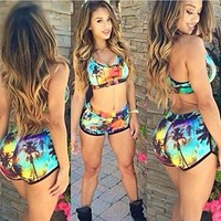 Bingirl Women Colorful Bandage Sexy Bikini Set Swimsuit Swimwear Bathing Suit