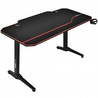 """55"""" T-Shaped Gaming Desk with Full Desk Mouse Pad and Gaming Handle Rack"""