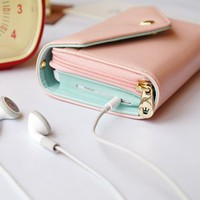 Smart Crown Style Pouch Wallet for multi Purpose (Pink)