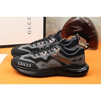Gucci Men Fashion Boots fashionable Casual leather Breathable Sneakers Running Shoes07170yph
