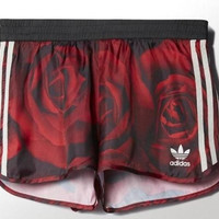 """Adidas"" Women Casual Rose Flower Print Chiffon Shorts Hot Pants Leisure Pants Sweatpants"