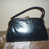 Mid Century Leather Hand Bag by Theodor