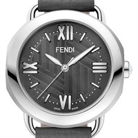 Fendi 'Selleria' Mother-of-Pearl Dial Leather Strap Watch, 36mm   Nordstrom