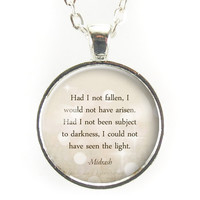 Motivational Midrash Quote Necklace