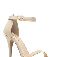 Nude Nubuck Single Sole Heels