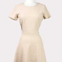 Frida Textured Dress in Blush