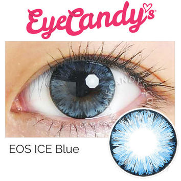 FREE SHIP | EOS ICE Blue Circle Lens Colored Contacts from EyeCandy's