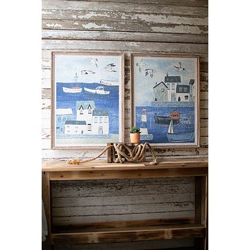Set Of 2 Seaside Prints
