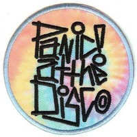 Panic At The Disco Iron-On Patch Round Swirl Logo