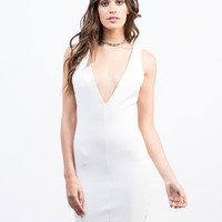 Plunging Party Dress