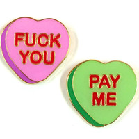 Fuck You Pay Me Pins