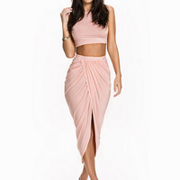 Soft Tuch Twin Set Rouched Skirt, Club L