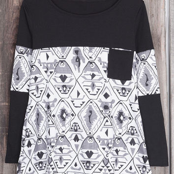 Cupshe Why So Abstract Splicing Top