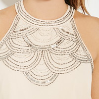 Sequins Beaded Top